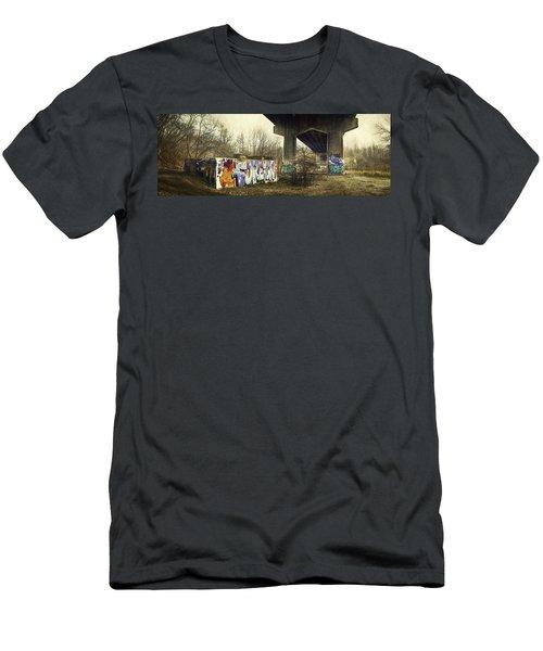 Under The Locust Street Bridge Men's T-Shirt (Athletic Fit)