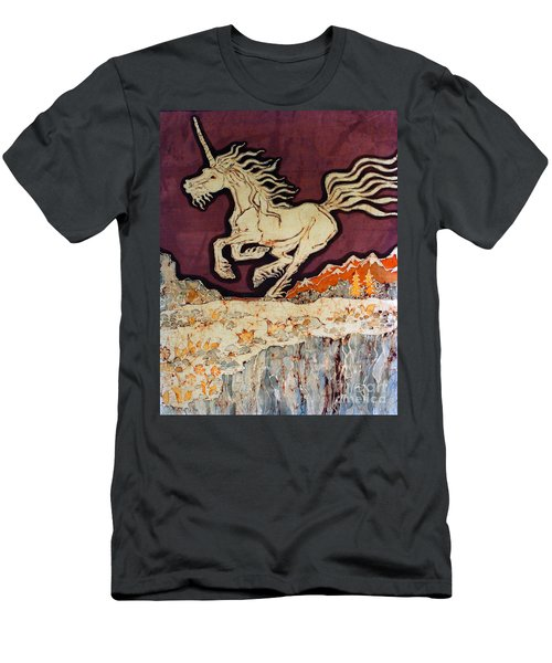 Unicorn Above Chasm Men's T-Shirt (Athletic Fit)