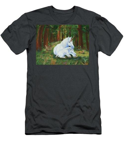 Unicorns Lap Men's T-Shirt (Athletic Fit)