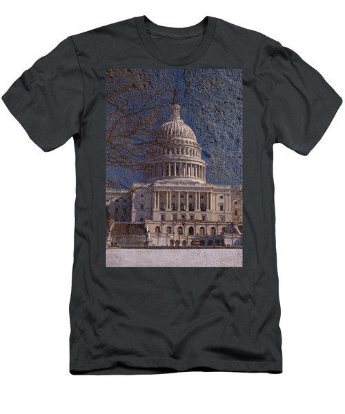 United States Capitol Men's T-Shirt (Slim Fit) by Skip Willits
