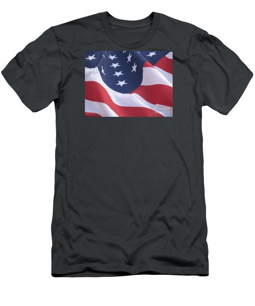United States Flag  Men's T-Shirt (Slim Fit) by Chrisann Ellis
