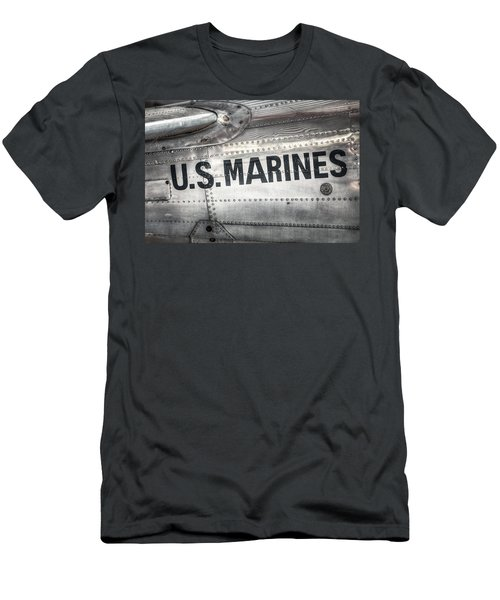 Men's T-Shirt (Slim Fit) featuring the photograph United States Marines - Beech C-45h Expeditor by Gary Heller