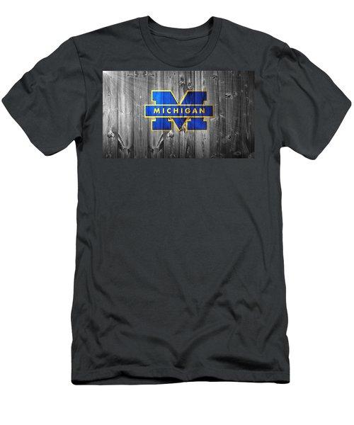 University Of Michigan Men's T-Shirt (Slim Fit) by Dan Sproul