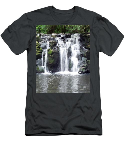 Men's T-Shirt (Slim Fit) featuring the photograph Upper Beaver Falls by Chalet Roome-Rigdon