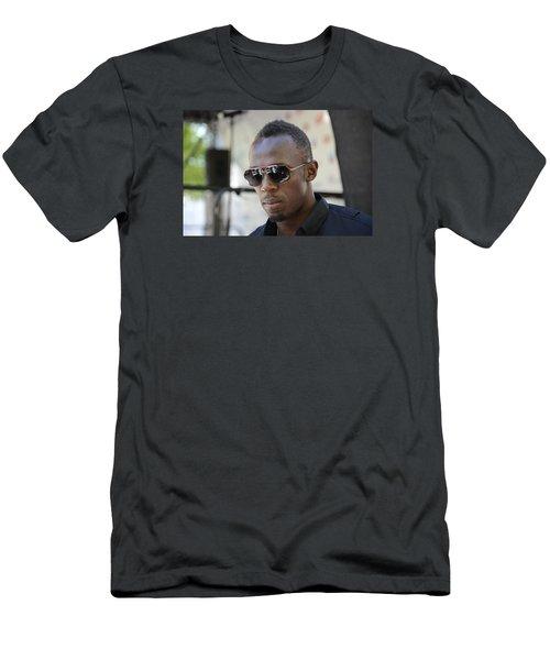 Usain Bolt - The Legend 3 Men's T-Shirt (Slim Fit) by Teo SITCHET-KANDA