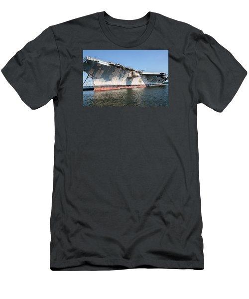 Uss John F. Kennedy Men's T-Shirt (Slim Fit) by Susan  McMenamin