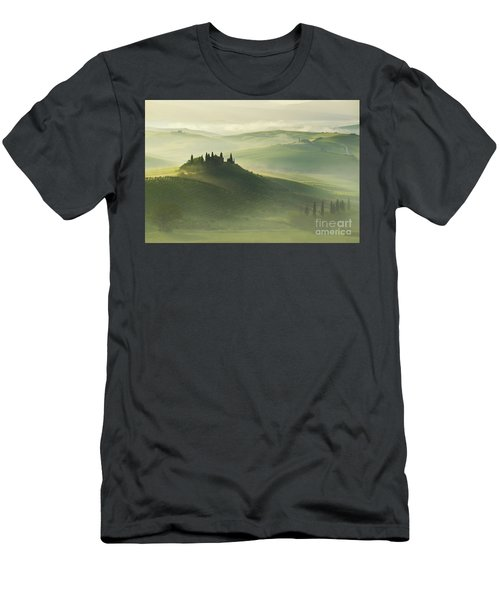 Men's T-Shirt (Athletic Fit) featuring the photograph Val D'orcia by Jaroslaw Blaminsky