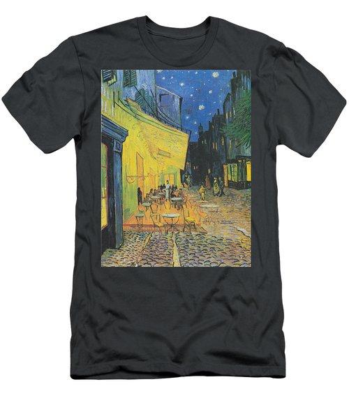 Van Gogh Cafe Terrace At Night 1888 Men's T-Shirt (Athletic Fit)