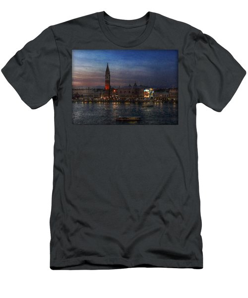 Men's T-Shirt (Slim Fit) featuring the photograph Venice By Night by Hanny Heim