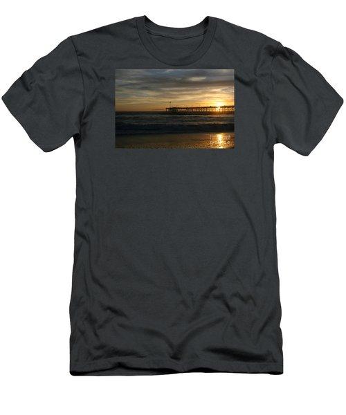 Ventura Pier 01-10-2010 Sunset  Men's T-Shirt (Athletic Fit)