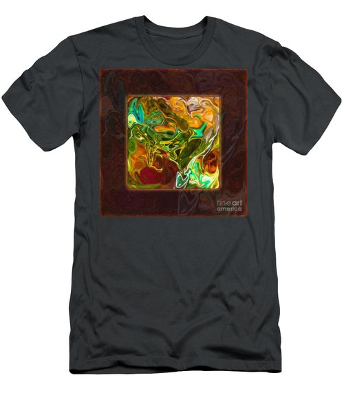 Vibrant Fall Colors An Abstract Painting Men's T-Shirt (Athletic Fit)