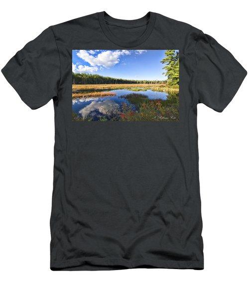 Vibrant Fall Scene Men's T-Shirt (Athletic Fit)