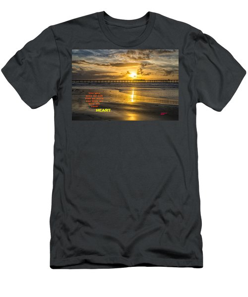 Vibrant Sunset Men's T-Shirt (Athletic Fit)