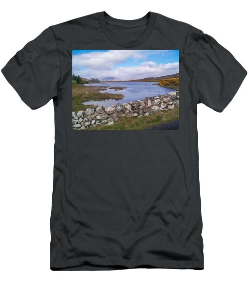 View From Quiet Man Bridge Oughterard Ireland Men's T-Shirt (Athletic Fit)