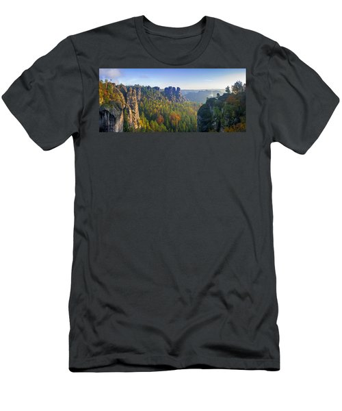 View From The Bastei Bridge In The Saxon Switzerland Men's T-Shirt (Athletic Fit)