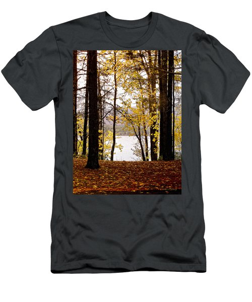 View Of  Lake Mcdonald Men's T-Shirt (Athletic Fit)