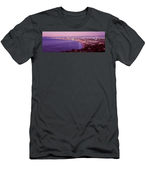 View Of Los Angeles Downtown Men's T-Shirt (Athletic Fit)