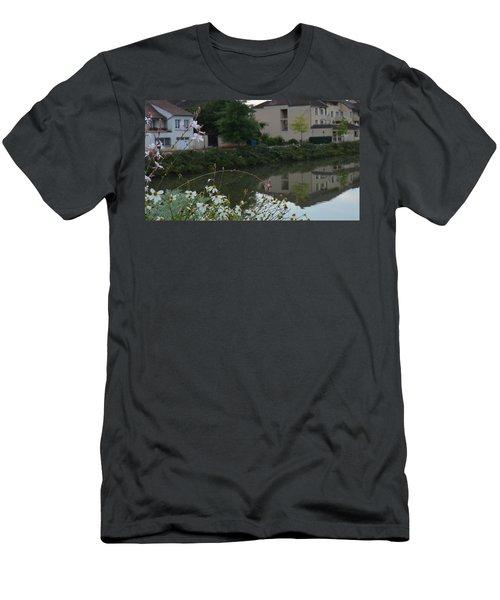 Village Life Men's T-Shirt (Slim Fit) by Cheryl Miller