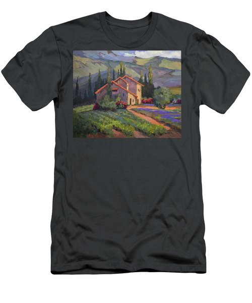 Vineyard And Lavender In Provence Men's T-Shirt (Athletic Fit)