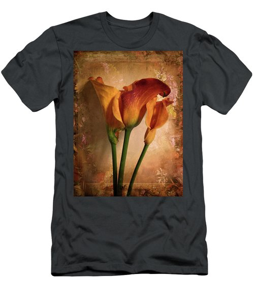 Vintage Calla Lily Men's T-Shirt (Athletic Fit)