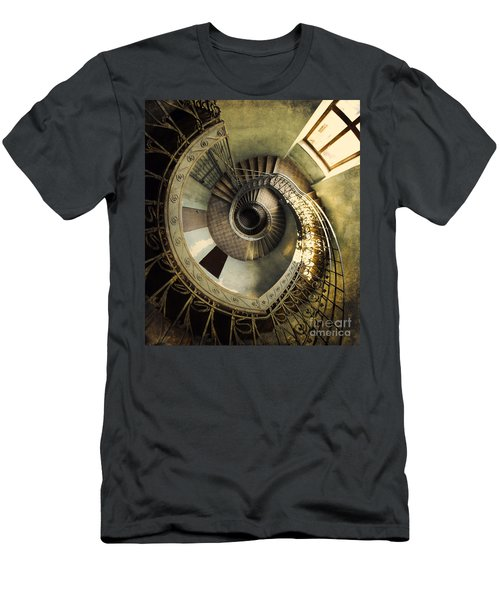 Vintage Spiral Staircase Men's T-Shirt (Athletic Fit)