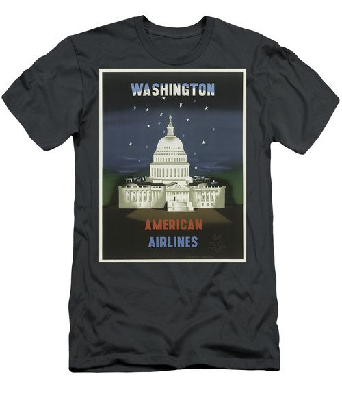 Vintage Travel Poster - Washington Men's T-Shirt (Athletic Fit)