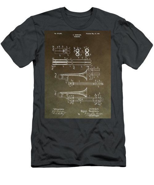 Vintage Trombone Patent Men's T-Shirt (Athletic Fit)