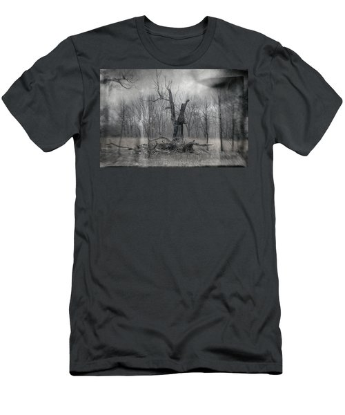 Visitor In The Woods Men's T-Shirt (Athletic Fit)