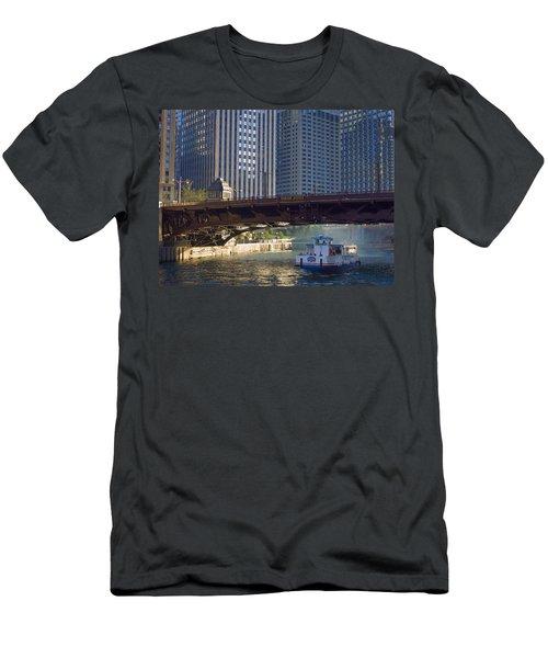 Men's T-Shirt (Slim Fit) featuring the photograph Wabash Street Bridge by John Hansen