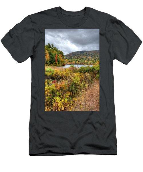 Wachusett Mt. In Autumn Men's T-Shirt (Athletic Fit)