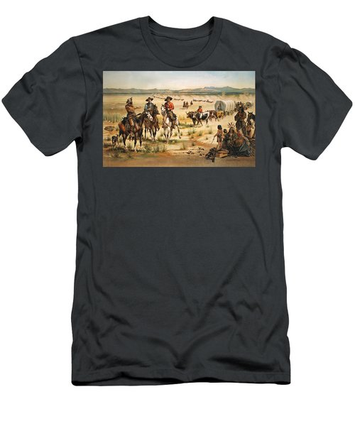 Wagon Train Men's T-Shirt (Athletic Fit)