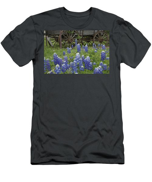 Wagon With Bluebonnets Men's T-Shirt (Athletic Fit)
