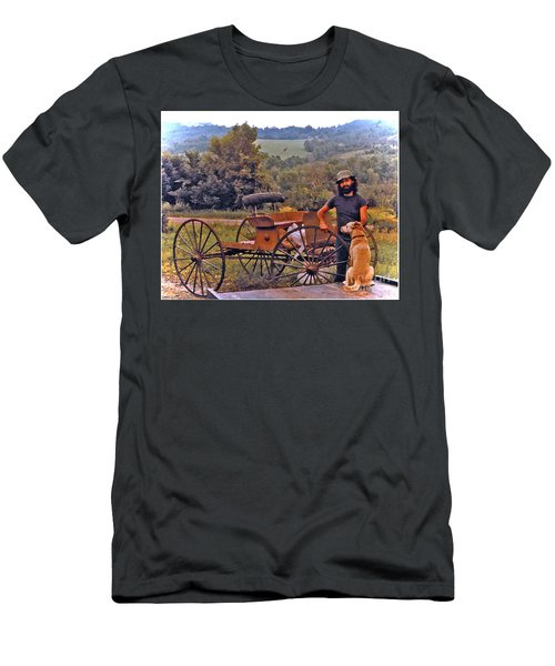 Waiting For A Lift On The Old Buckboard Men's T-Shirt (Athletic Fit)