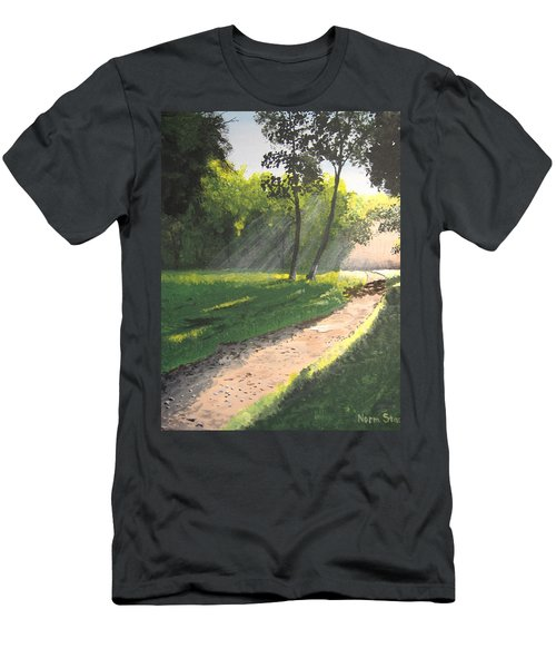 Walk Into The Light Men's T-Shirt (Athletic Fit)