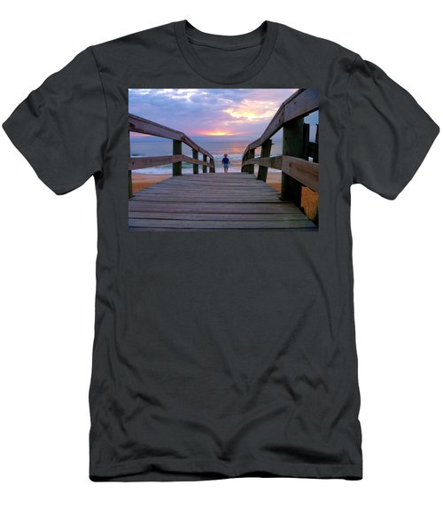 Men's T-Shirt (Athletic Fit) featuring the photograph Walking Into Paradise by Tyson Kinnison