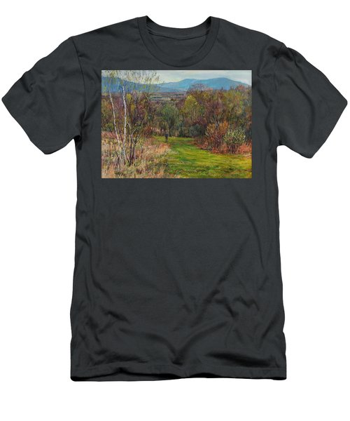 Walking Through The Woods In Spring Men's T-Shirt (Athletic Fit)