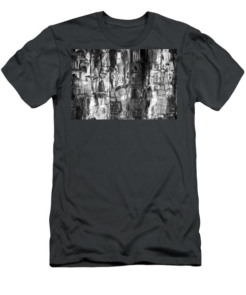 Wall Of Rock Men's T-Shirt (Slim Fit) by Miroslava Jurcik
