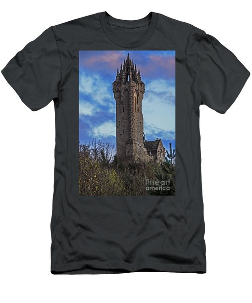 Wallace Monument During Sunset Men's T-Shirt (Athletic Fit)