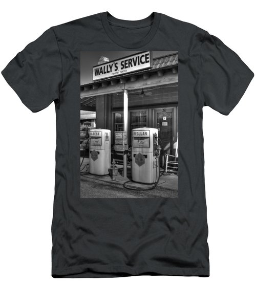 Wally's Service Station Men's T-Shirt (Athletic Fit)