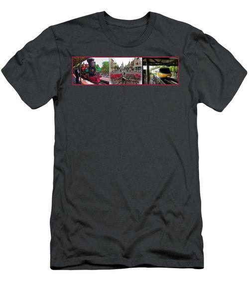 Walt Disney World Transportation 3 Panel Composite 02 Men's T-Shirt (Athletic Fit)