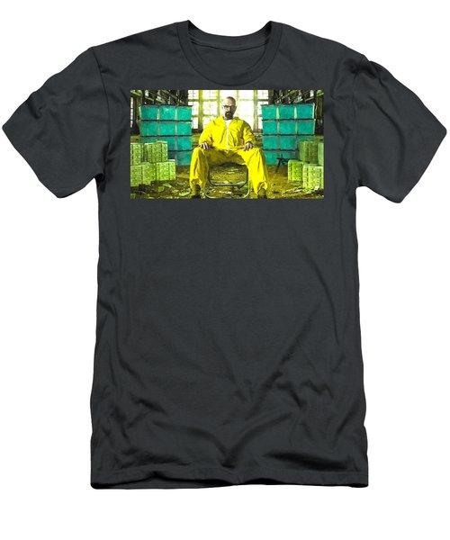 Walter White As Heisenberg Painting Men's T-Shirt (Athletic Fit)