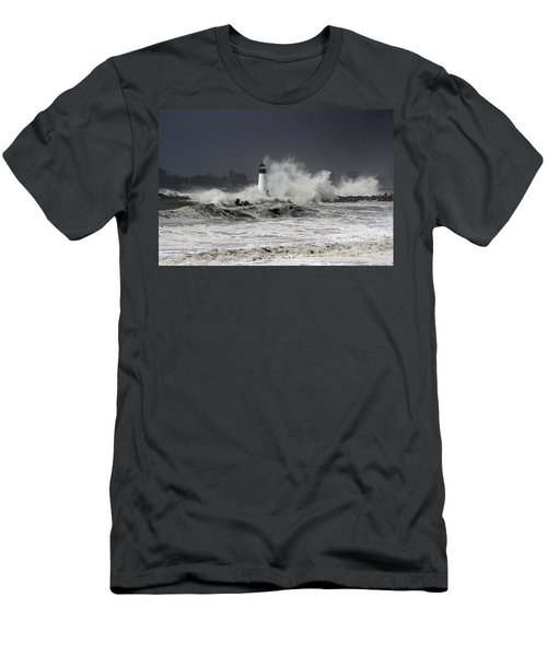 Walton Lighthouse Takes A Beating Men's T-Shirt (Athletic Fit)