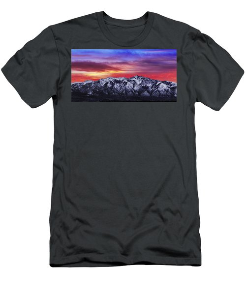 Wasatch Sunrise 2x1 Men's T-Shirt (Athletic Fit)