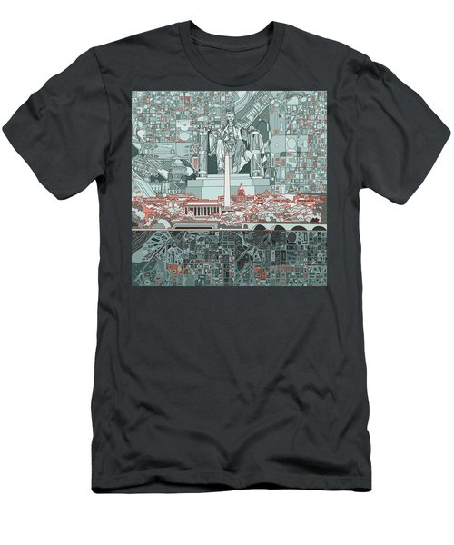 Washington Dc Skyline Abstract Men's T-Shirt (Athletic Fit)