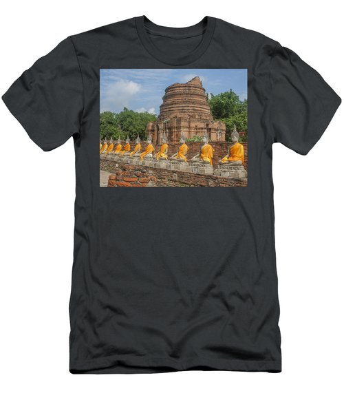 Wat Phra Chao Phya-thai Buddha Images And Ruined Chedi Dtha005 Men's T-Shirt (Athletic Fit)