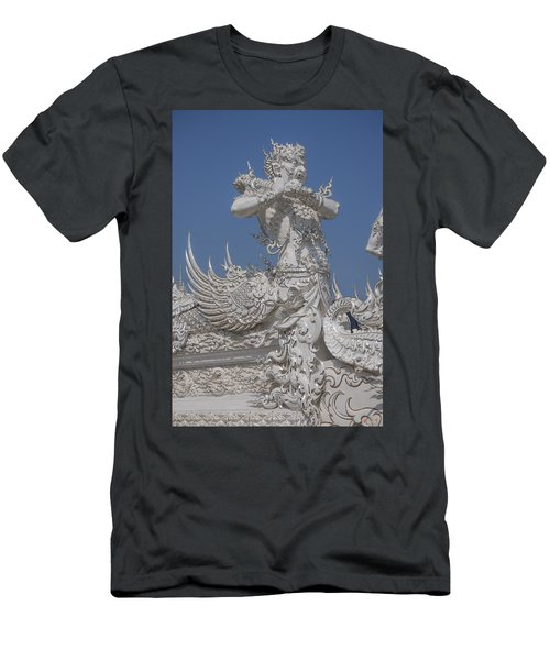 Wat Rong Khun Ubosot Causeway Guardian Dthcr0007 Men's T-Shirt (Athletic Fit)
