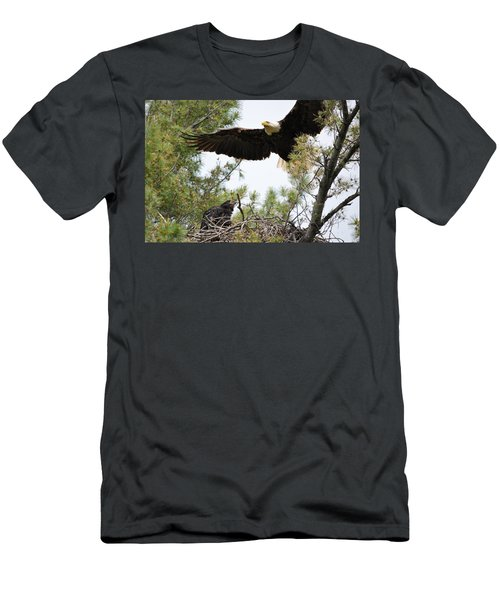 Watch Out Below Men's T-Shirt (Athletic Fit)
