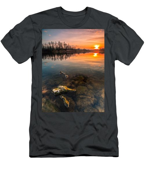 Watching Sunset Men's T-Shirt (Slim Fit) by Davorin Mance