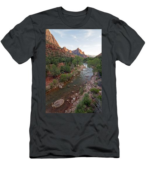 Watchman Sunset Men's T-Shirt (Athletic Fit)