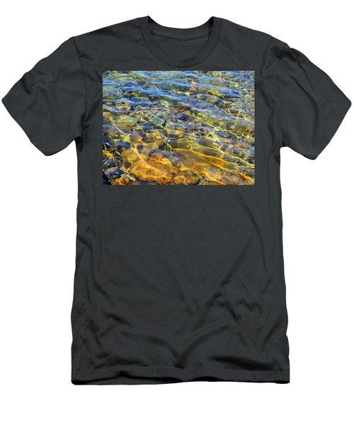 Water Abstract Men's T-Shirt (Slim Fit) by Lynda Lehmann